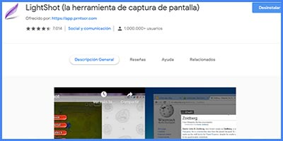 LIGHTSHOT – Captura de pantalla ideal si estas diseñando tu web